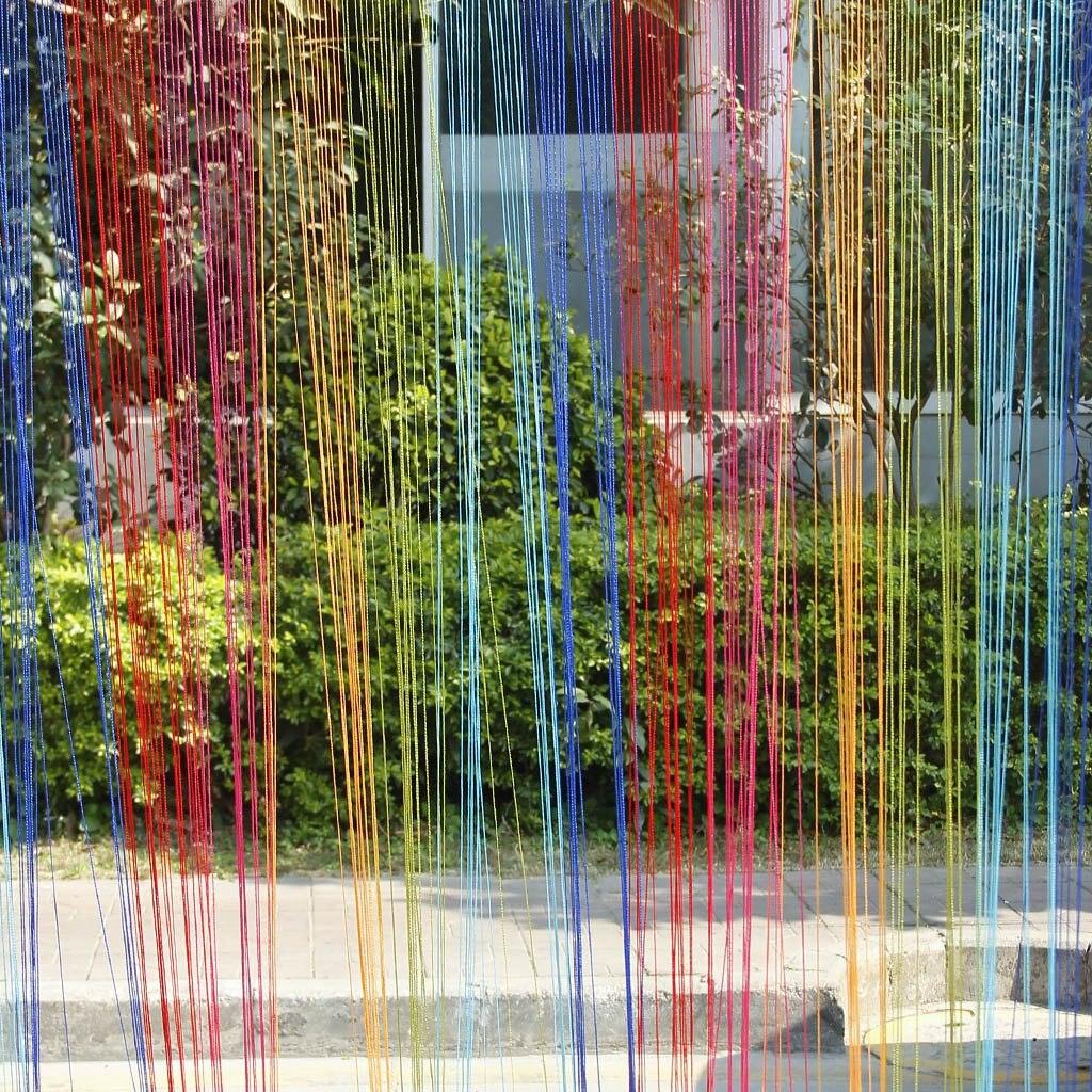 Phfu красочные двери, окна Панель перегородка строка Шторы полоски Ленточки