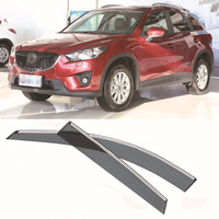 Jinke 4pcs Blade Side Windows Deflectors Door Sun Visor Shield For Mazda CX 5 2012 2013