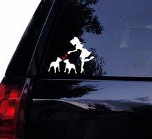Tshirt Rocket SASSY Pit Lady Loves Her Pitbulls - PITBULL Bull Dog Vinyl Car Decal, Laptop