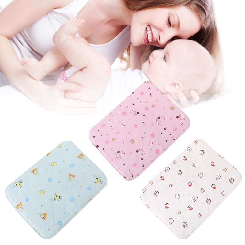 Baby Changing Pad Reusable Washable Folding Waterproof Stroller Diaper Washable Portable Mattress Cartoon Diaper Pad Covers