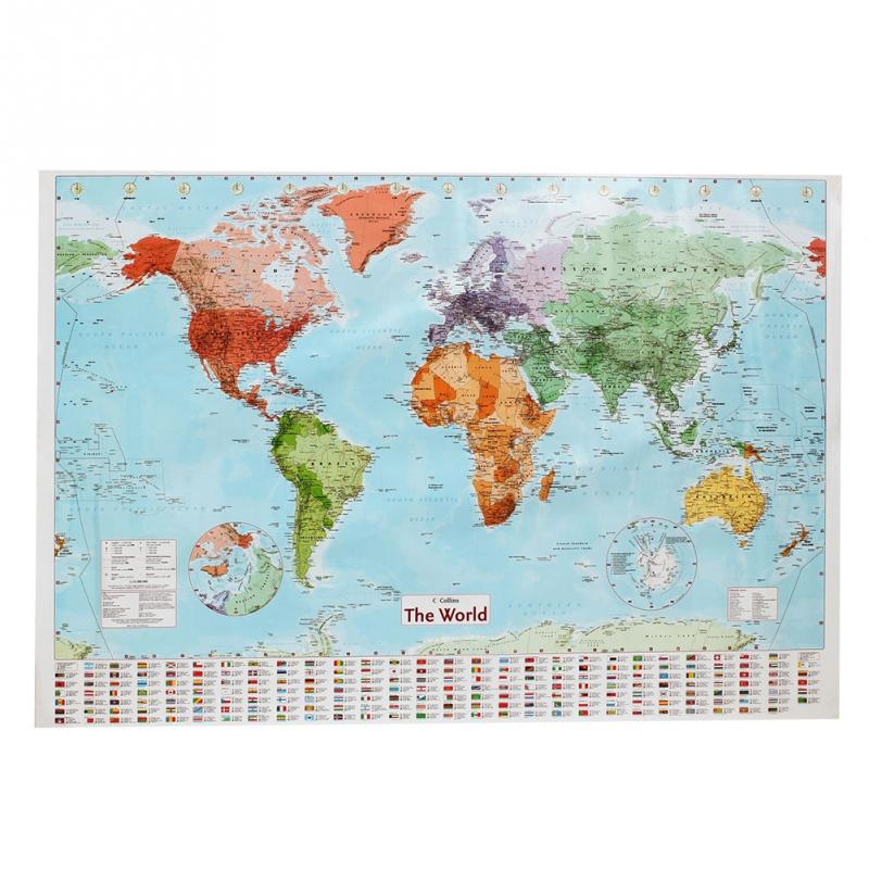 Stickers Mappemonde World Map Wall Decal On Sale Large World Map - Big world map for wall
