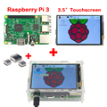 Сделано В ВЕЛИКОБРИТАНИИ Raspberry Pi 3 Модель B Доска + Raspberry Pi 3.5 дюймовый ЖК-ДИСПЛЕЙ TFT Экран + Акриловый Чехол + 3 Шт. радиаторы Бесплатная Доставка