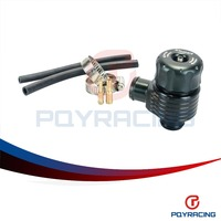 PQY STORE Black Auto Racing Turbo Aluminum Blow Off Valve With Adpater Outside PQY5742BK
