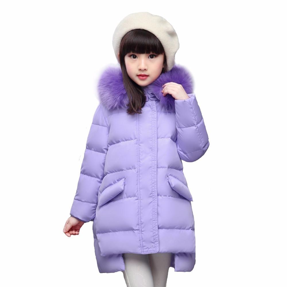 Girls coat Children Coats warm baby 100% thick duck Down -30 degree jacket Girl winter down Jackets 30#