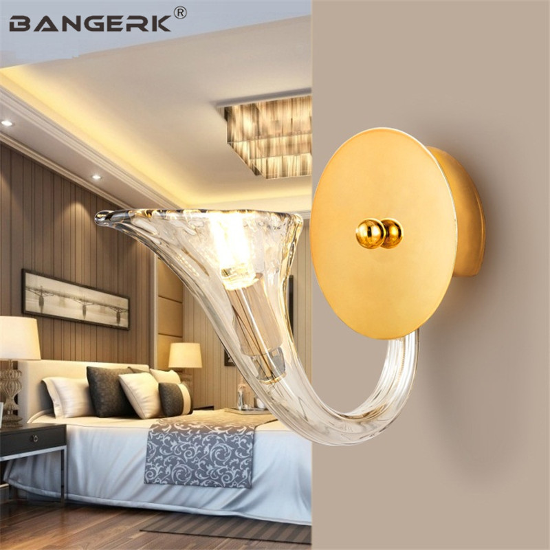 Nordic Design Sconce Wall Light LED G9 Modern Bedside Brass Glass Wall Lamp Bathroom Home Decor Lighting Fixtures Luminaire|LED Indoor Wall Lamps| |  - title=
