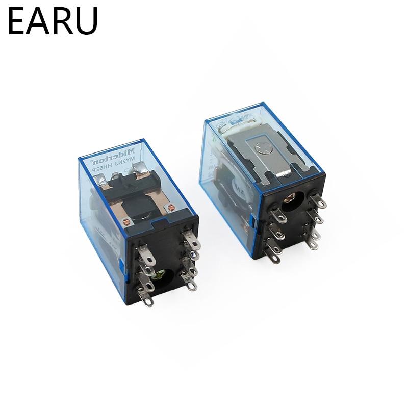 HTB1c9imr21TBuNjy0Fjq6yjyXXah - MY2P HH52P MY2NJ Relay Coil General DPDT Micro Mini Electromagnetic Relay Switch with Socket Base LED AC 110V 220V DC 12V 24V