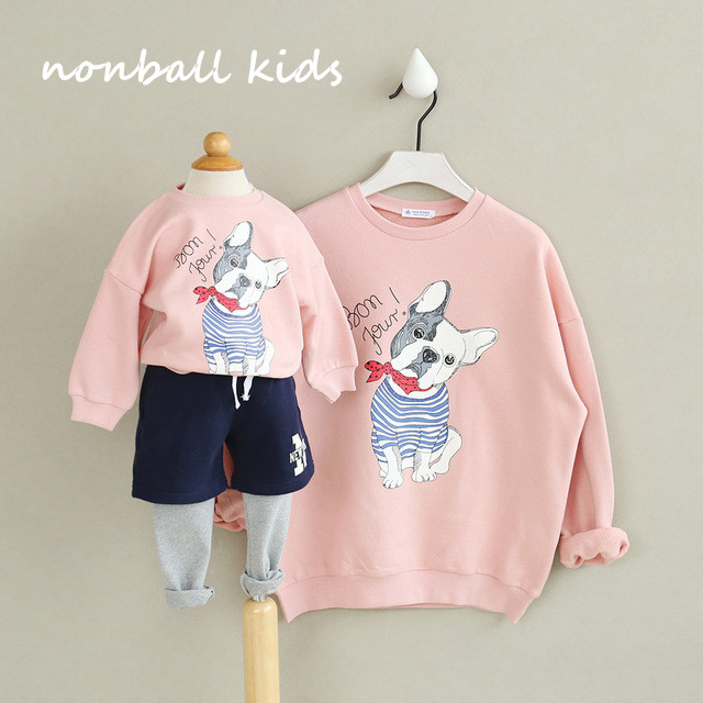 2pieces/lot family clothing family matching clothes spring autumn sweatshirt matching mother and daughter son outfits clothes