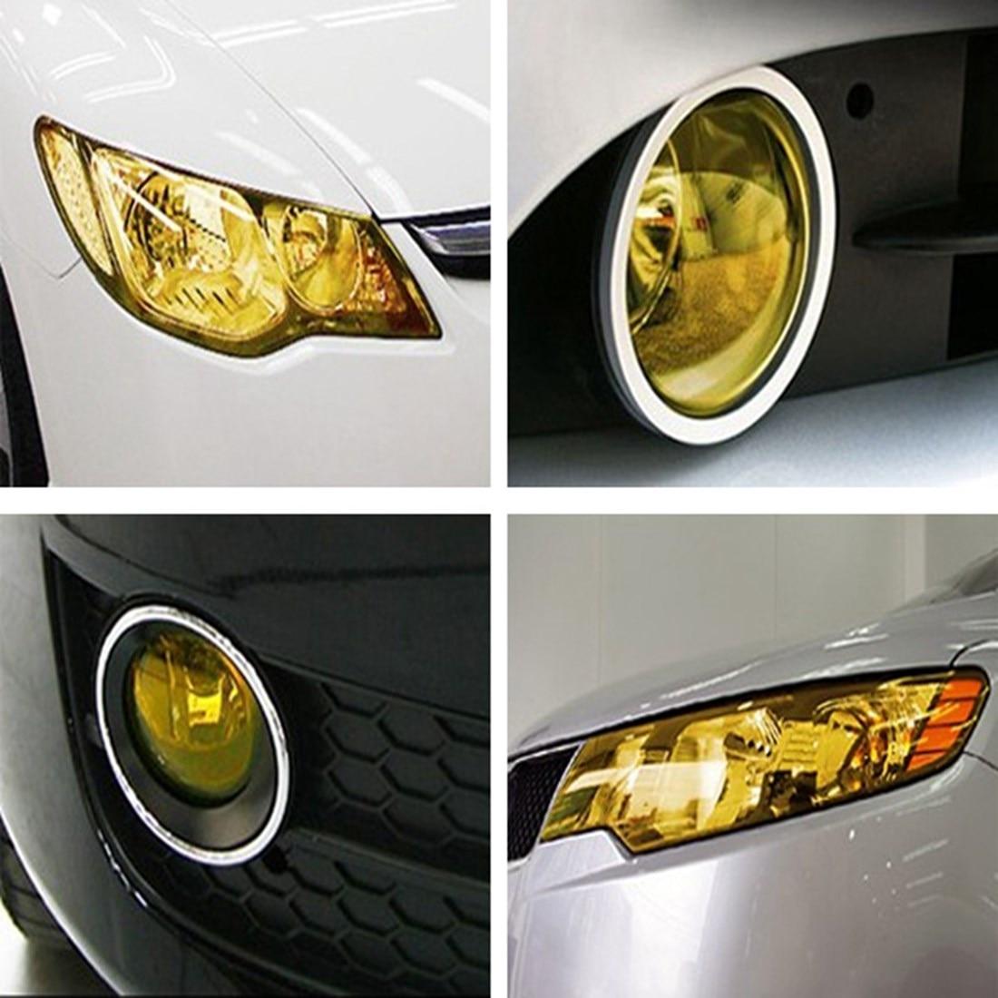 Image 5 - 30 см x 100 см автомобильный Тонирующий головной светильник задняя фара туман светильник виниловая дымовая пленка лист наклейка покрытие автомобильные наклейки для стайлинга автомобилей-in Наклейки на автомобиль from Автомобили и мотоциклы