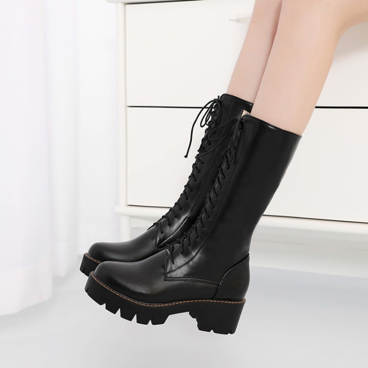 Big Size 9 10 11 12 boots women shoes ankle boots for women ladies boots Cross binding waterproof tableBig Size 9 10 11 12 boots women shoes ankle boots for women ladies boots Cross binding waterproof table