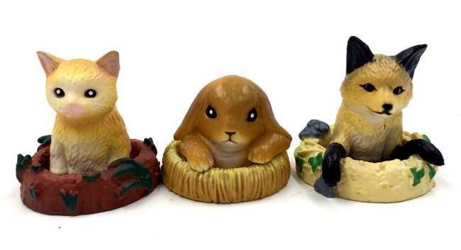 6 adet/grup japon animesi şekil kawaii sevimli 2-3 cm sincap/köpek/KEDI hayvan action figure seti koleksiyon model oyuncaklar çocuklar için