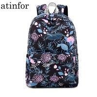 Fashion Waterproof Women Backpack Flower Printing Bagpack Daily Travel Rucksack Laptop Bookbag Female School Backpacks for Girls