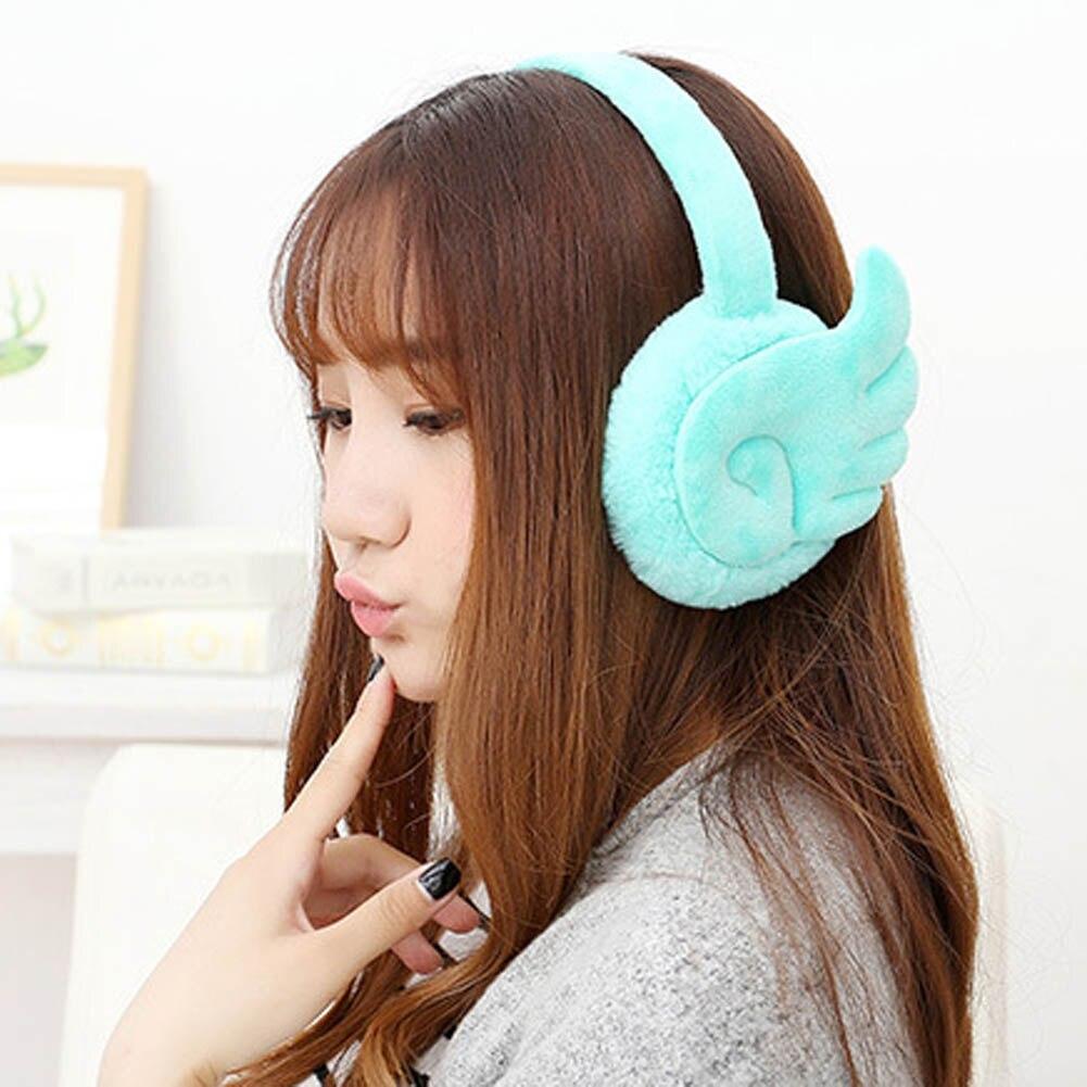 Cute Wings Girl Winter Ear Warmer Fur Earmuffs Fashion Oorwarmers Accessory Orejeras Color Random