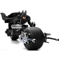 The Dark Knight Batman Batpod Batcycle Batmobile 338PCS Models Sets Building Blocks Bricks Compatible 07061 Toys