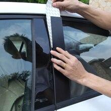 Для Mitsubishi Lancer оконные декоративные наклейки против царапин углеродного волокна автомобильные наклейки для стоек зеркальная поверхность черная отделка Аксессуары