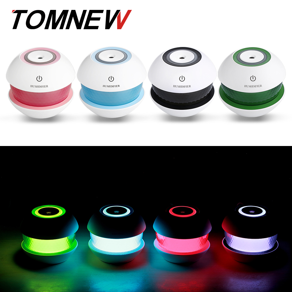 TOMNEW USB Mini Cool Mist Humidifiers 150ML Portable Ultrasonic Power-Off Air Diffuser with LED Night Light for Home Office Car цена