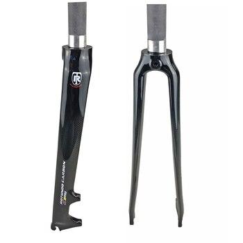 Rotundo garfo de carbono 700c 1-1/8 3k freio a disco de carbono estrada bicicleta garfo peças 28.6mm acessórios da bicicleta