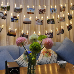 1 set/saco decoração do casamento estrelado foto titular luzes da corda livro quarto decoração clipe de janela centerpieces natal bateria