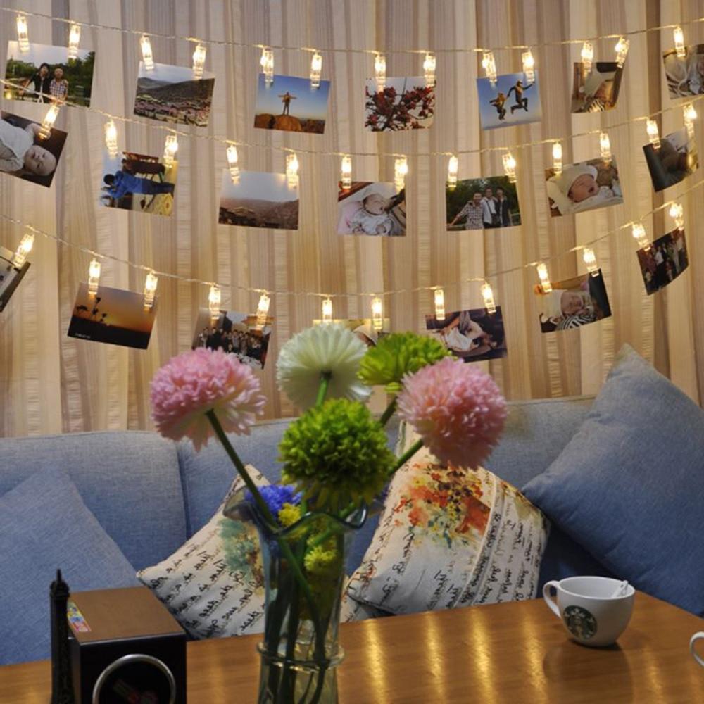 Lights For Room Decor: 1Set/Bag Wedding Decoration Starry Photo Holder String