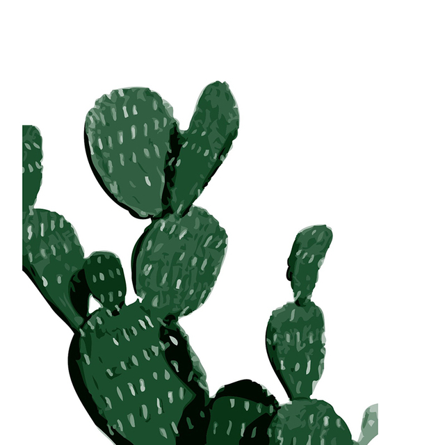 Desert Cactus Wall Art Print Decorative Painting Decoration Canvas Modern Home