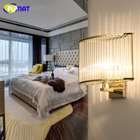 FUMAT Post Modern Square Crystal Wall Lamp Sconce Nordic Fashion Brief Living Room Wall Lights Lustre