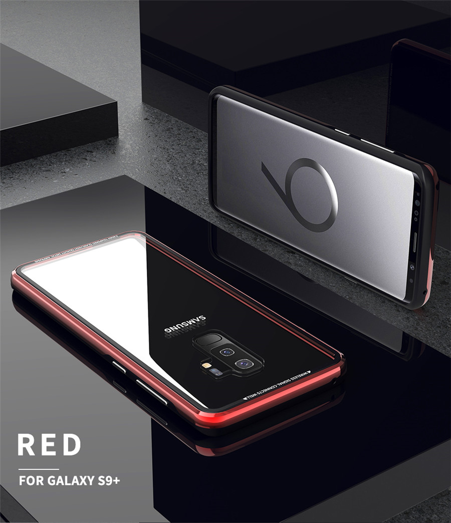 Luxury Aluminum Phone Cases For Samsung galaxy s9 Original R-just Hardness Tempered Glass Cover Case S9 Plus S9+ Accessories (9)