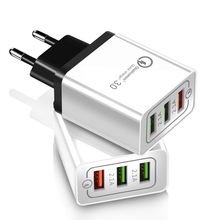 18W USB Mobile Phone Quick Charge EU US Plug qc 3.0 for iPhone X 8 7 iPad Fast Wall Charger for Samsung S9 Xiaomi mi 8 Huawei цены