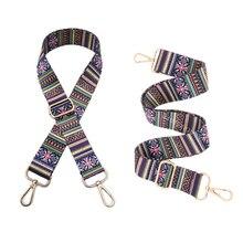 Bag Straps Ethnic Flower Belt Accessories Women Adjustable Shoulder Hanger Handbag Decoration Handle Ornament