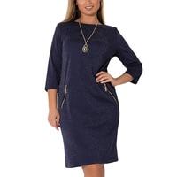 Fashion Plus Size Winter Dress Shining Zippers Large Size 5xl 6xl Bandage Dresses Women Clothing Ladies