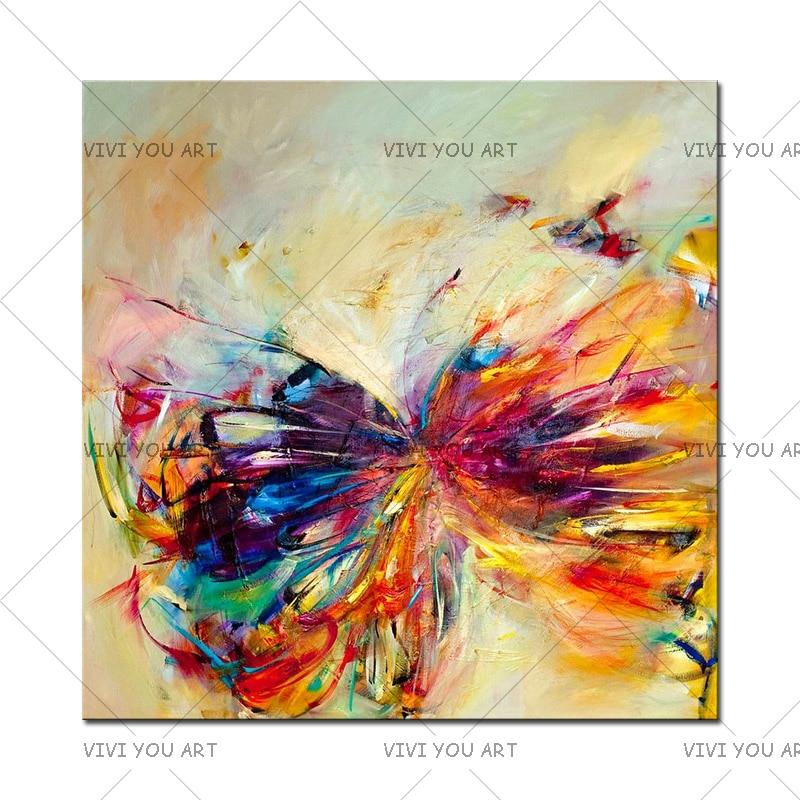 Pintura al óleo sobre lienzo arte de la pared decorativa abstracta - Decoración del hogar - foto 1