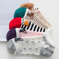 High Quality Cute Elegant Lovely Cartoon Sweet Cotton Women Socks Animals Character Casual Short Socks Hot
