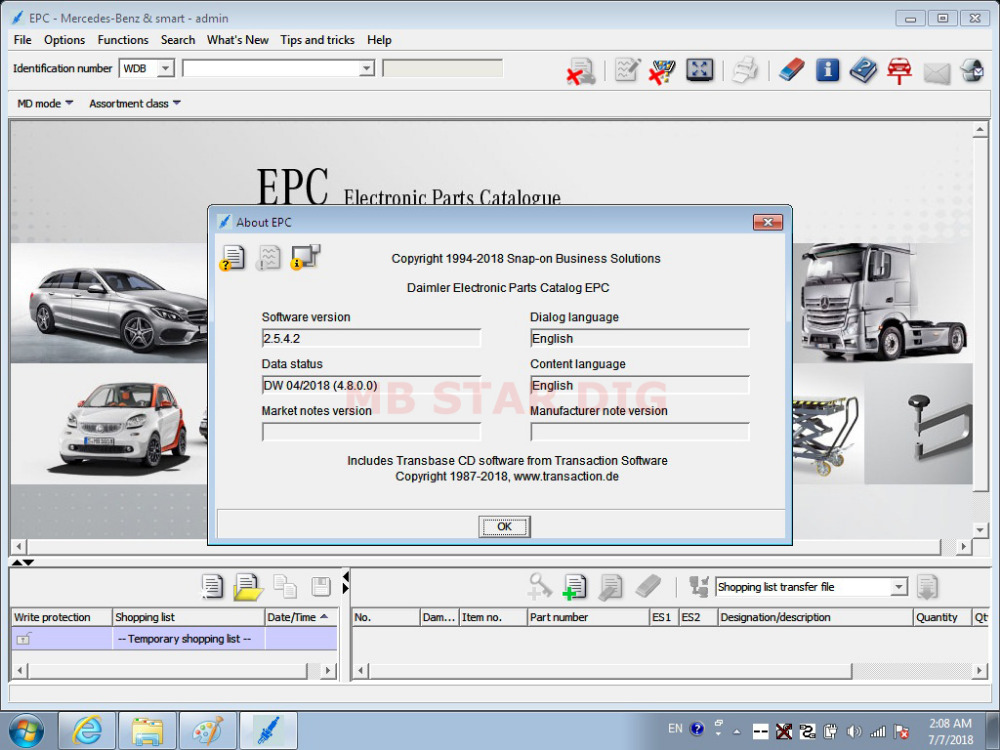 2018.7 XENTRY SOFTWARE FOR C4 DISPLAY 7