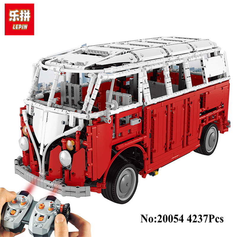 Presell New LEPIN 20054 4237Pcs Technic Creator Camper Van car-styling Model Building Blocks Bricks Toys for Children Gifts meike mk d750 battery grip pack for nikon d750 dslr camera replacement mb d16 as en el15 battery