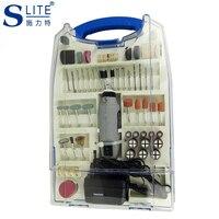 Slite Mini Electric Grinding Kit Suit DIY Engraver Carve Tool Grinder Micro Accessories Adjust Speed Manicure Dremel Style New