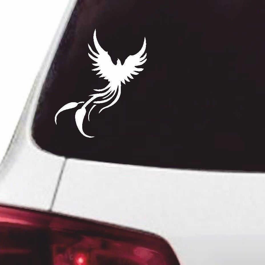 12 715cm phoenix funny vinyl sticker fashion personality car window wall tribal fire bird decor