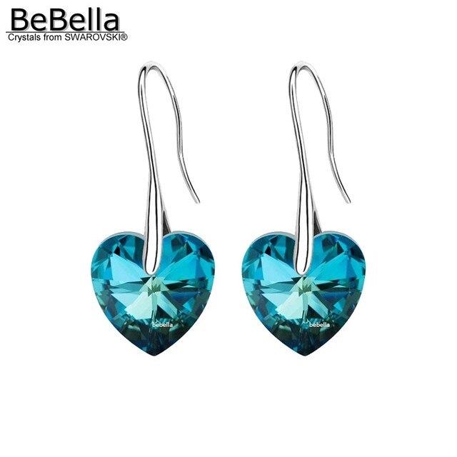 Bebella хрустальный кулон сердце серьга серьги сделано с элементами swarovski для 2017 женщин день матери подарок
