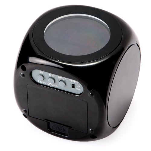 Boutique Digital LCD Voice Talking LED Projection Alarm Clock Temp Station