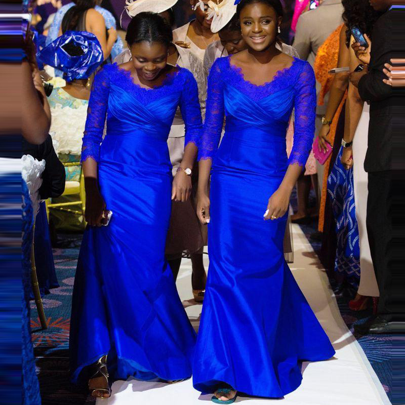 Vestido De Noche Elegant Blue Mother Of The Bride Dress V Neck 34