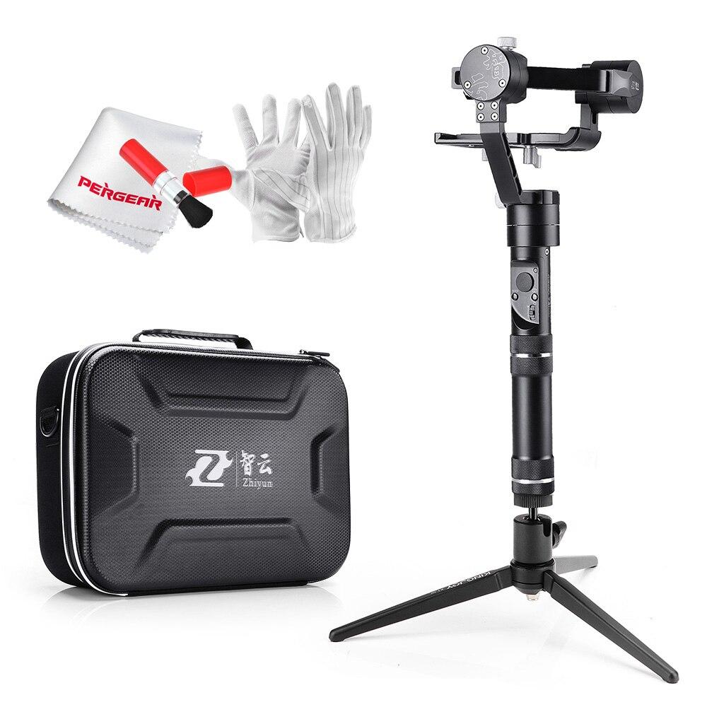 bilder für Zhiyun Kran M Kran-M 3-achsen Brushless Griff Gimbal Stabilizer für Smartphone Mirroless DSLR Gopro 125g-650g + Tischstativ