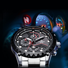 CASIMA men s watch stainless steel quartz watch outdoor sports fashion luminous calculagraph stopwatch waterproof 100m