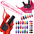 Elite99 6Pcs 10ml Thermal Nail Gel Polish Chameleon Temperature Change Color UV Gel Lacquer Thermo Gel Polish Varnish