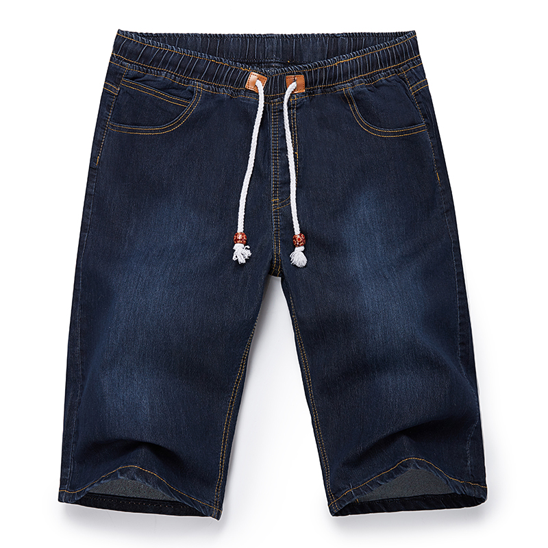 40 42 44 46 48 Big Size Men Summer Casual Denim Shorts Fashion Classic Style Stretch Thin Section Short Jeans