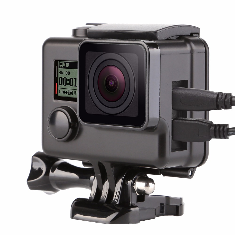 Side Open Housing Case for GoPro Hero 3+ 4 Black Silver Action Cam Housing Protective Shell For Go Pro4 3+Camera Accessory