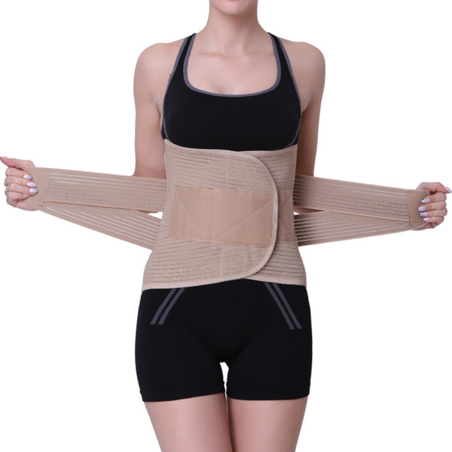 fbc2a7c4e Adjustable Waist Trainer Posture Corrector Widened Health Care Waist Back  Belt Brace Lumbar Support with Warm Patches