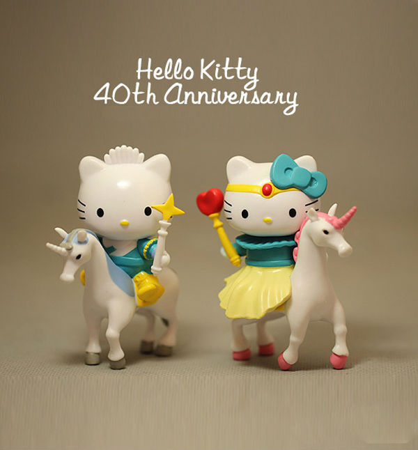 Hello Kitty Toys Set : N model anime hello kitty figures set sanrio gift
