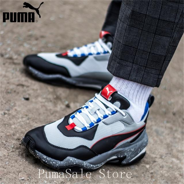fdfd8d88de5 US $80.1 17% OFF|PUMA Thunder Electric Spectra Men's Sneakers 367996 02  Badminton Shoes Grey Black Thunder Desert Sneaker Retro Dad Shoes 36 44-in  ...
