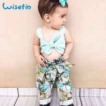 Wisefin Toddler Girl Clothes Set Summer Fashion Baby Bikini For Girls 2  Piece Beach Clothes Girls Tropical Style Baby Bikini Set e598771a4331
