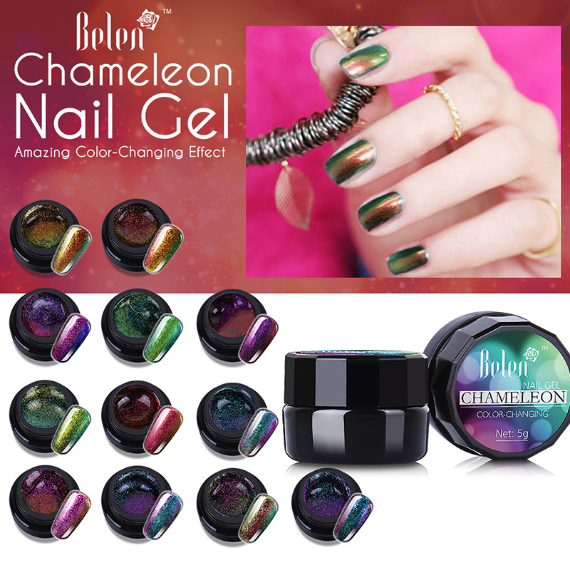 Chameleon 7 Tone Paint: Aliexpress.com : Buy Belen 5ml Chameleon Gel UV Glitter