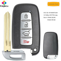 KEYECU Smart Remote Car Key With 4 Buttons 315MHz PCF7952 Chip FOB for Kia Forte Sportage Soul 2011 2012 2013, FCC: SY5HMFNA04