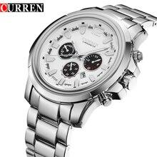 2016 Nueva CURREN Relojes de Los Hombres Top Marca de Lujo de Diseño Caliente Deportes militares relojes Hombres Digital Cuarzo de Los Hombres de Acero Lleno reloj