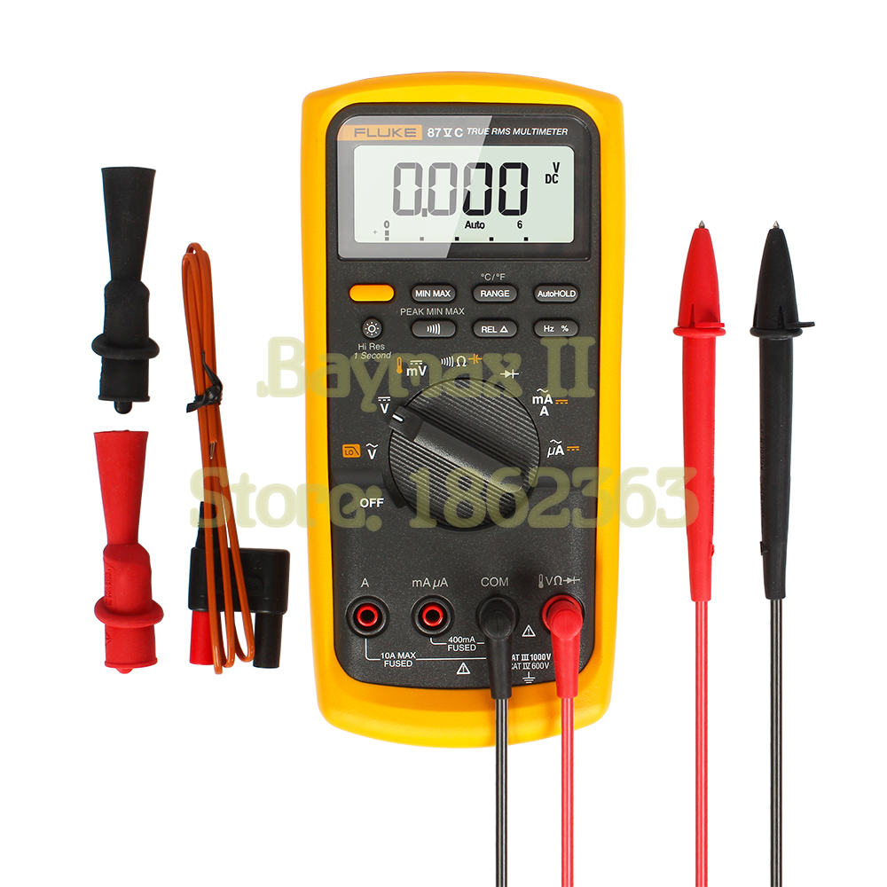 US $375 25 5% OFF|Fluke 87VC industrial multimeter F87V/C Ex Intrinsically  Safe True RMS Multimeter temperature Conductance tester-in Multimeters from